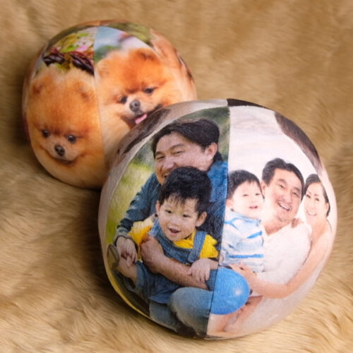 Customized Pillow Ball - Fur Ball Basketball with Pictures